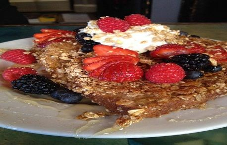 Cap'n Crunch French Toast from Blue Moon Café  http://www.foodiehub.tv/food-category/Breakfast/review/Blue-Moon-Caf/Capn-Crunch-French-Toast/5557_5614