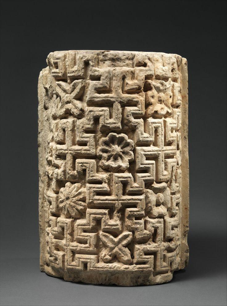 met-islamic-art:  Engaged Column Part with Meander Pattern via Islamic Art  Medium: Limestone; carved Rogers Fund 1909 Metropolitan Museum of Art New York NY  http://ift.tt/2onXeoy