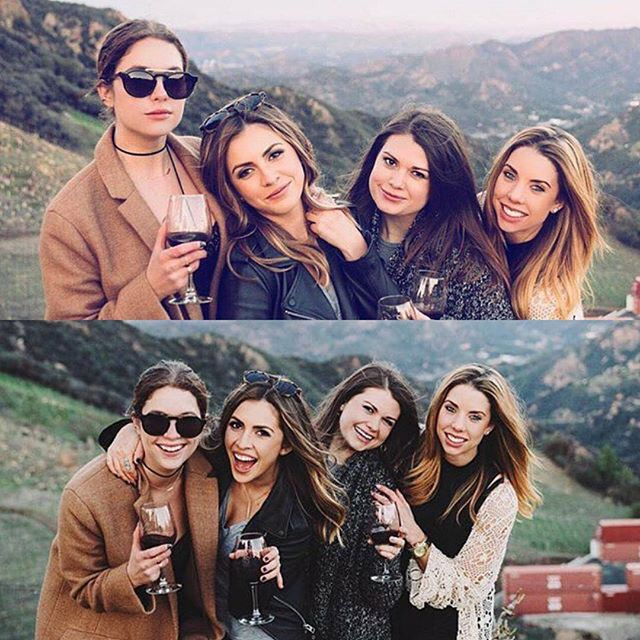 Ashley with her Sister and friends