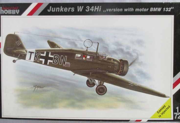 Special Hobby 1/72 Kit WW2 Junkers W 34HI 'Version with Motor BMW 132'