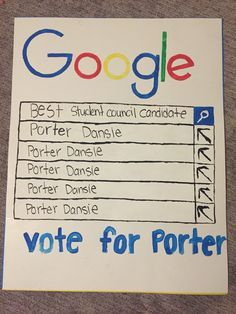 campaign student council posters - Google Search                              …