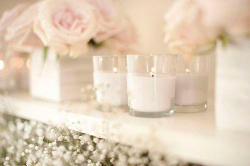 Pink Flower, White Wedding, Gift Ideas, Candles Centerpieces, Last Minute Gift, Fresh Flower, Scented Candles, Pink Rose, Style Blog