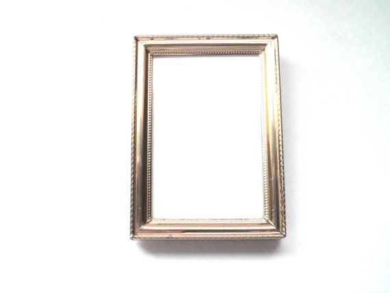 Just listed!  Check my shop for more gold frames as well.  ---> Gold Picture Frame  Small Photo Frame  Wallet Frame by SweetSomeday