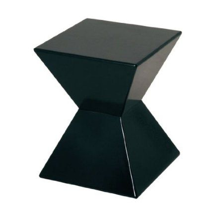 EDGE Funky Black High Gloss Lacquered End Table · Black Side TableSmall ...