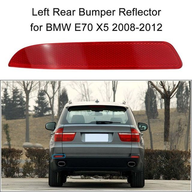 Right Rear Bumper Reflector Red Lens for BMW E70 X5 2008-2012 OEM:63217158950
