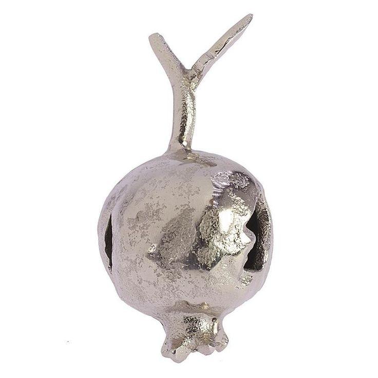 DECORATIVE ALUMINIUM POMEGRANATE 6X6X11 - Pomegranate Charms - Crosses - DECORATIONS