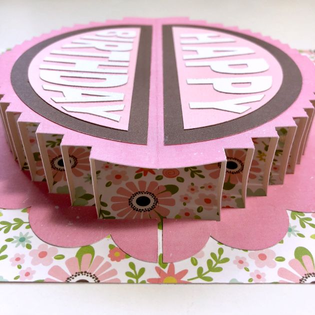 A2 Pop Up Round Cake Card Tutorial With Michelle Lori Whitlock Cake Card Card Tutorial Card Maker