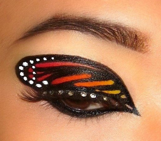 butterfly! - i recreated this look but i don't know who created it ):
