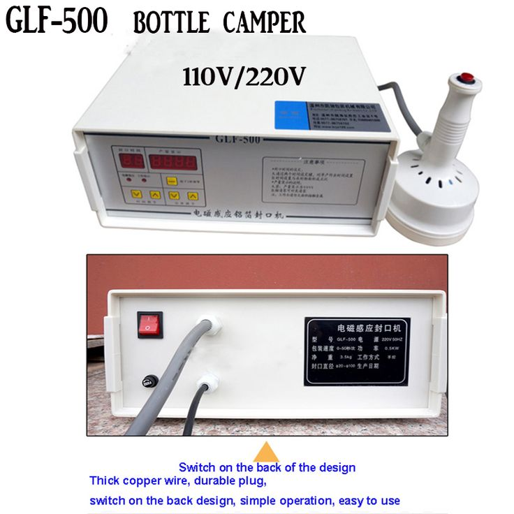 electromagnetic induction aluminum foil sealing machine GLF-500 induction sealer machine Capping Machine Fast shipping DHL #Affiliate