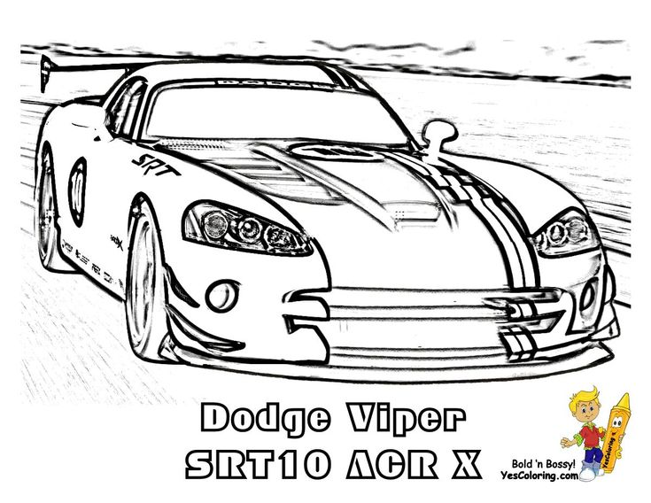 Print Out This Fired Up Car Coloring Sheet! Dodge Viper ...