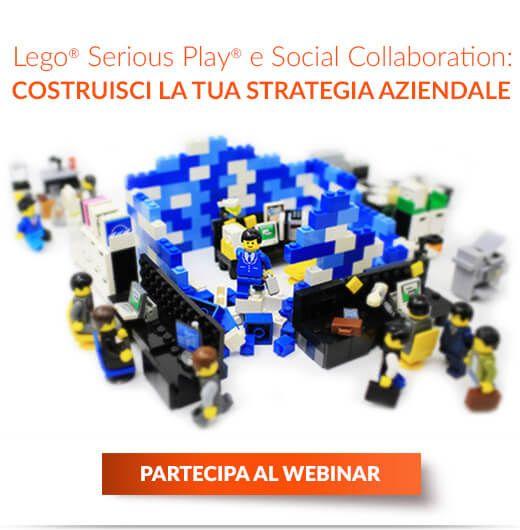 Come affrontare sfide e progetti aziendali con il metodo Lego® Serious Play® e gli strumenti di Social Collaboration. Coinvolgere le persone per migliorare le performance!  Webinar Gratuito