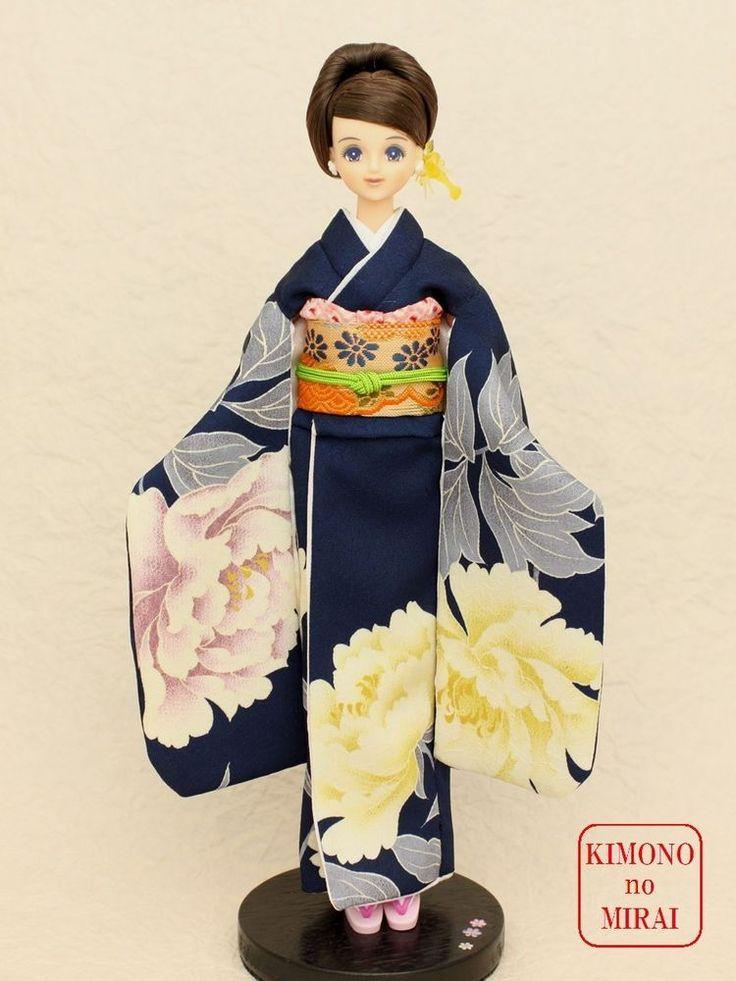 Best Japanese KIMONO dress,Blue Kimono,for dolls Jenny,Momoko,Pullip outfit #KIMONOnoMIRAI #ClothingAccessorieskimono
