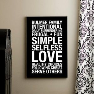 custom family mission statement