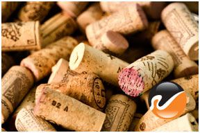 Used Wine Corks, previously bottled, for guest book alternative
