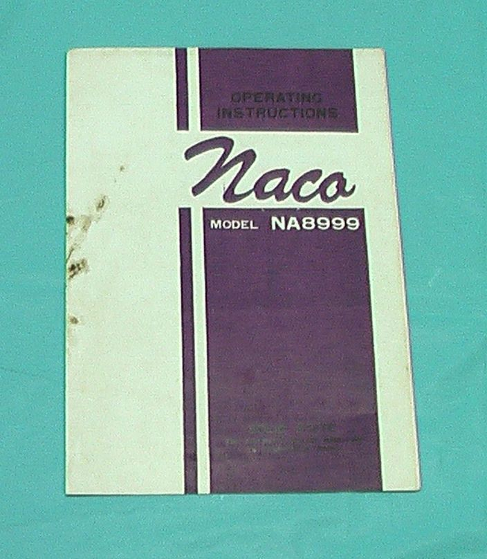 Naco Solid State AM FM 14 Transistor AC DC Portable Radio NA8999.Instruction VTG