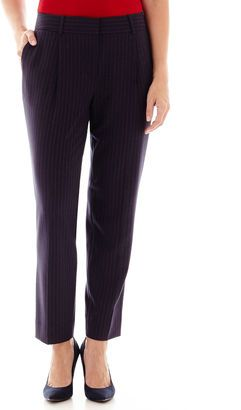 LIZ CLAIBORNE Liz Claiborne Pinstripe Ankle Pants - Shop for women's Pants - vy Red Pinstripe Pants