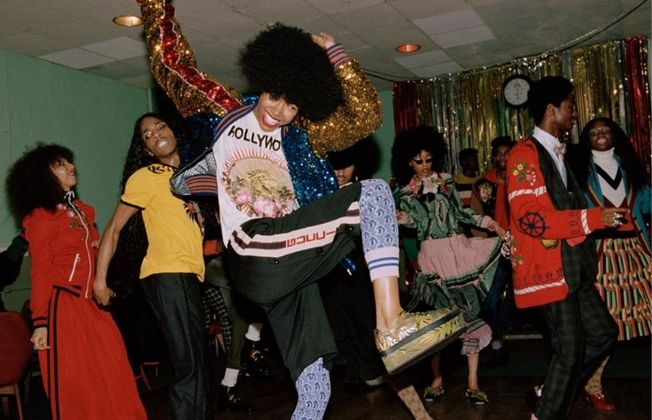 """Gucci's pre-fall 2017 campaign spotlights a cast of all-black models. Called 'Soul Scene', Glen Luchford captures a party of young people at London's Mildmay Club for the advertisements. Creative director Alessandro Michele found inspiration in a London exhibition called """"Made You Look,"""", which spotlighted black masculinity and style. Influence was also found in the 1960's …"""