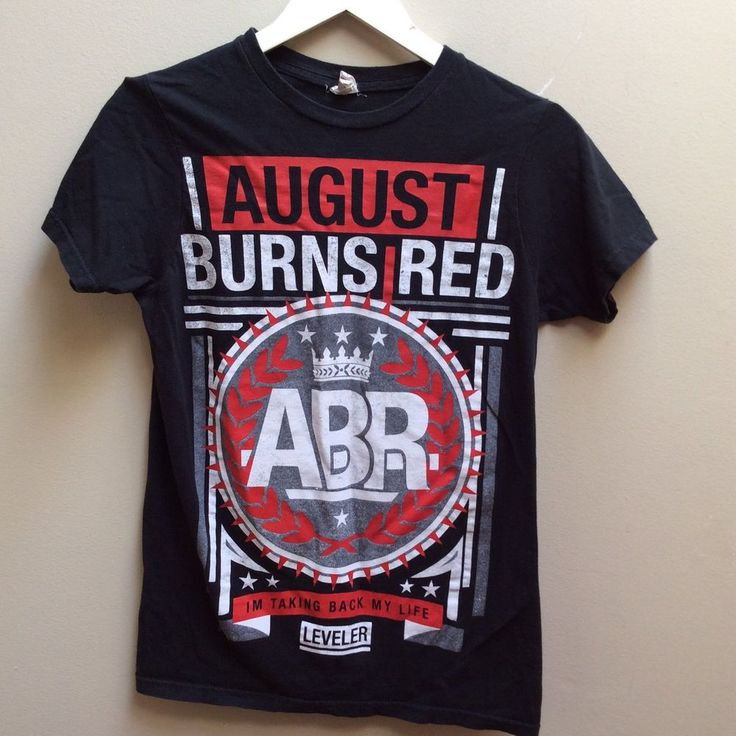 August Burns Red Band ABR Women's Small T-Shirt I'm Taking Back My Life Leveler  #BayIsland #GraphicTee