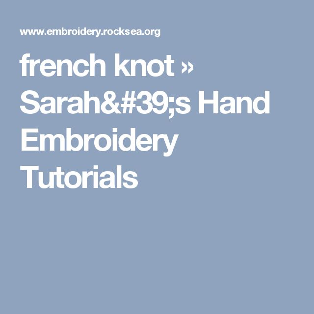 how to make a french knot in cross stitch