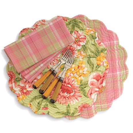 April Cornell Reversible Spring Placemats