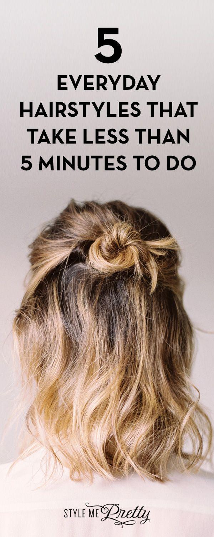5 coiffures quotidiennes qui prennent moins de 5 minutes à faire