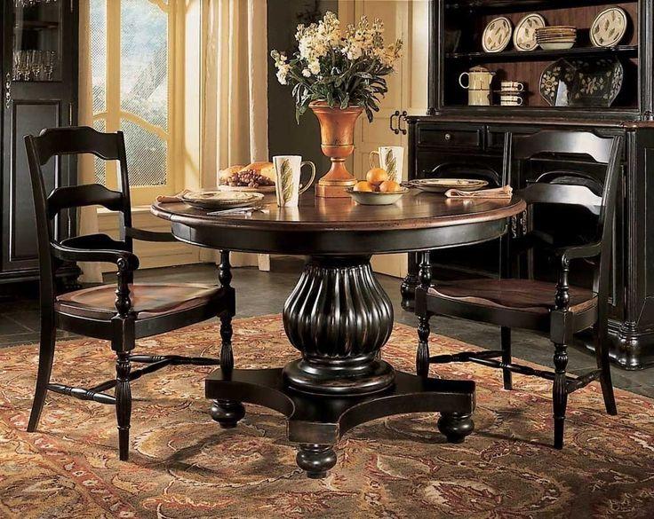 Black Pedestal Dining Table Set