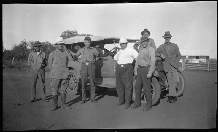 112937PD: Standard Oil exploration party, Rough Range, Exmouth Gulf Station, 1924 http://encore.slwa.wa.gov.au/iii/encore/record/C__Rb4647052?lang=eng
