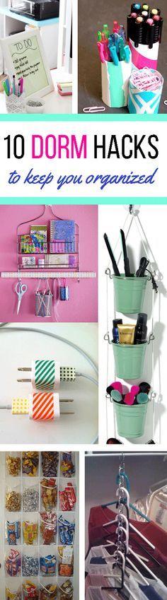 10 Dorm Hacks To Keep Your Room Organized