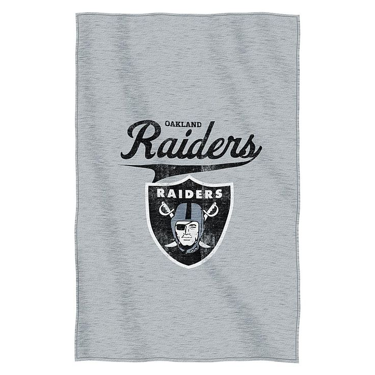 Officially Licensed NFL Sweatshirt Throw - Raiders