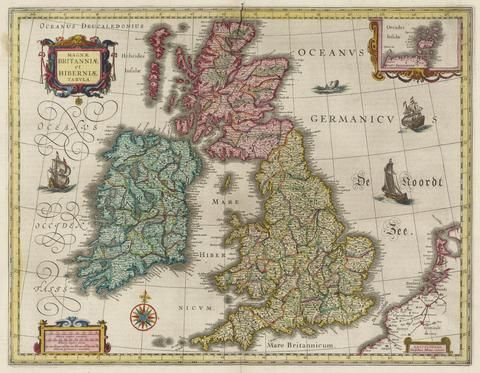 39 best renaissance maps images on pinterest color vintage map of great britain 17th century fine art reproduction mp004 publicscrutiny Gallery