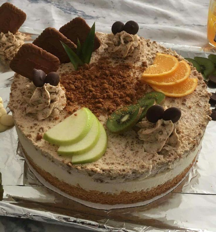 Gâteau croquant speculos et mousse speculos. #HappyBirthdayDarling