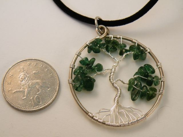Tree Of Life Pendant - Green Aventurine on Silver £14.95