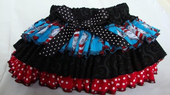 Dr Seuss bloomers: Crafts Ideas, Birthday Parties, Drsuess Parties, Seuss Birthday, Baby Girls, Dr. Suess Parties, Dr. Seuss, Hats Bloomers Diap, Cute Skirts