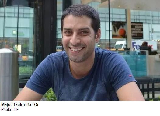 Maj. Tzafrir Bar-Or, 32, from Acre, was killed on Sunday in Gaza. Since his conscription in the IDF, Bar-Or served in the Golani Brigade thr...