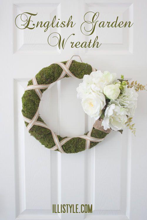 DIY English Garden Spring Wreath - illistyle.com