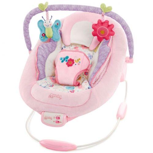 Bright Starts #Hamaca #Bebé Penelope Petals. Muy confortable y con un diseño precioso, dispone de un mecanismo vibratorio que ayuda a tu pequeño a relajarse.