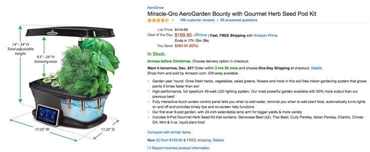 Grow Tons Of Herbs All Winter The Best Aerogarden W Herb 640 x 480