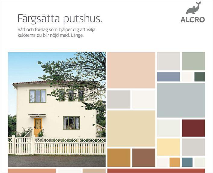 Måla din putsfasad med kulörer från fasadkollektionen putshus | Alcro Färg