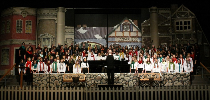 The voices of students filled the air at the Hildebrand Chapel at Briercrest College on Saturday and Sunday. Under the direction of Scott Finch, the college and high school choirs performed a variety of Christmas music.  - photo by Fiona Graham