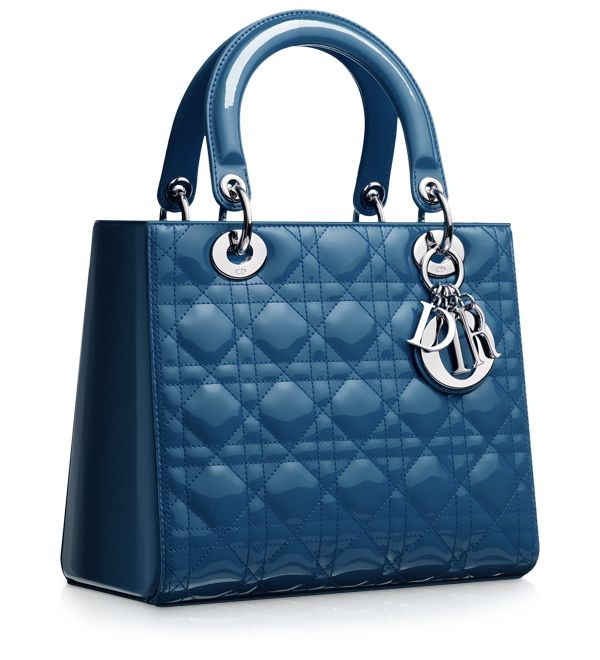 Dior Cruise Blue Patent Lady Dior Bag