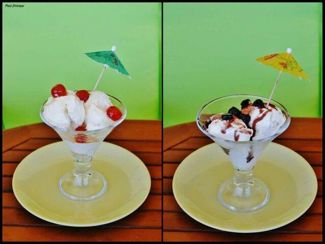 Ice-cream vanilia-kaimaki..