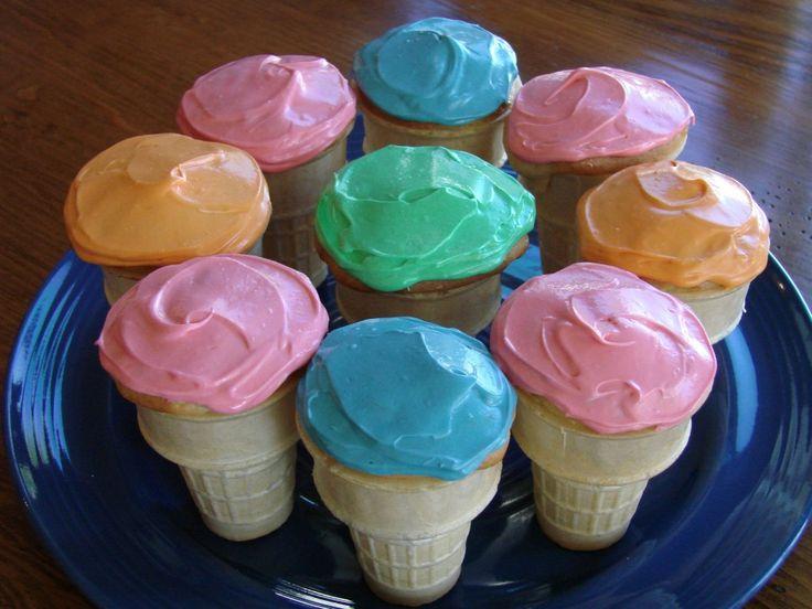 Ice Cream Cone Cupcake Recipe {so cute!} ~ from TheFrugalGirls.com #cupcake #recipes