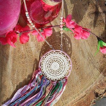 Dromenvanger ketting met leuke frisse kleurtjes - Made by Beaudeliek