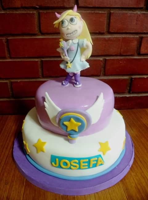 #StarButterfly #Fondant #cake by Volován Productos  #instacake #puq #Chile #VolovanProductos #Cakes #Cakestagram #SweetCake