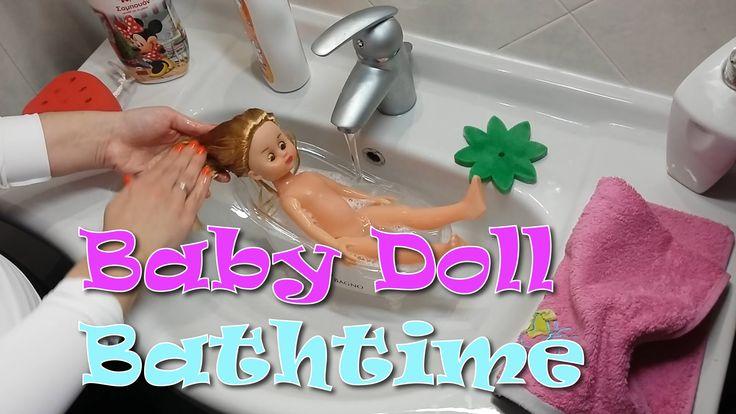 Baby Doll Bathtime!! Brushing hair, Ironing clothes!!!