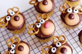 ------------ Cupcake de Rena ------------  Os ajudantes do Pai Natal também merecem destaque!