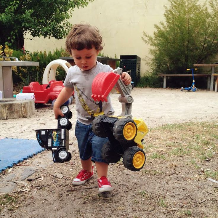 """The little man, Ethan rocking his """"Crane Chaos"""" tee and his heavy machinery!"""