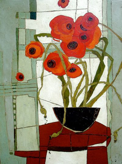"""Framed Poppies"" by Karen Tusinski"