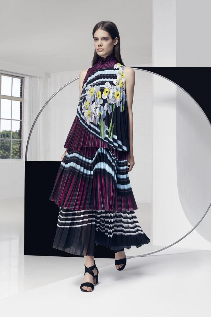 Look 15. Newberry Dress & Pleated Maxi Skirt