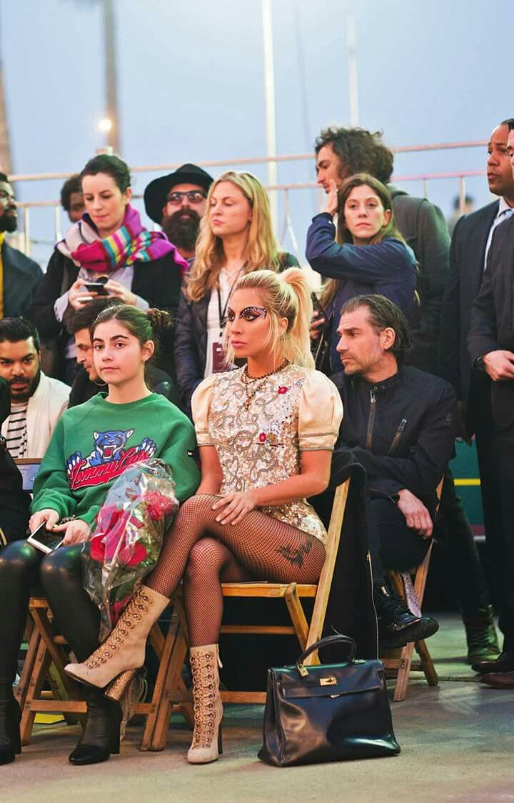 Lady Gaga (Tommy Hilfiger Fashion Show 2017) I would die if I was sitting next to her